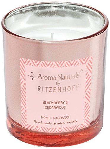 (Ritzenhoff 5070004Aroma Naturals Luxury Scented Candle, Glass, Black/Pink, 7x 7x 8cm)