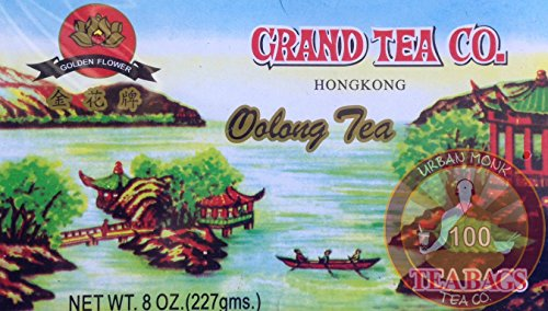 Grand Tea Company Oolong Tea 100 Bags WuYi Tea by Grand Tea Company