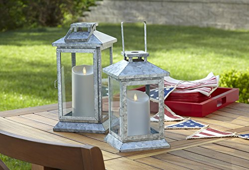 Luminara Outdoor Flameless Candle: Plastic Finish, Unscented Moving Flame Candle with Timer (9'' Ivory) by Luminara (Image #2)
