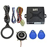 BANVIE Car Alarm RFID Immobilizer Hidden Lock System with Keyless Go Engine Start Stop Push Button for Vehicle Double Layer Start Protection