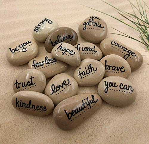 Empowerment Pebbles Set of 15 Hand Painted Affirmation Rocks