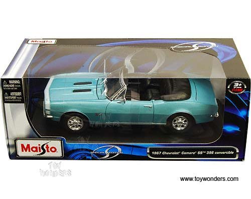 31684tq Maisto - Chevy Camaro Ss 396 Convertible (1967, 1:18, Turquoise) 31684 Diecast Car Model 1 18 Vehicle Toy Auto Automobile Metal
