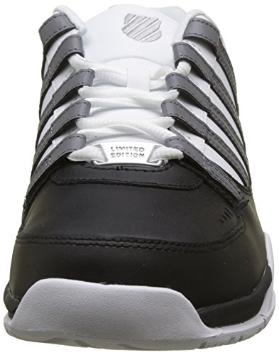 K Baskets Baxter White Black Homme Swiss Charcoal Noir 4rAq4O