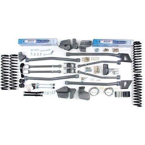 BDS 469H 07-10 JK 4dr 6.5/6 Long Arm 4-Link Suspension Kit