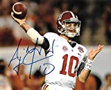 A. J. A J McCarron Signed Autographed Auto UA Alabama Crimson Tide 8x10 Photo - Proof