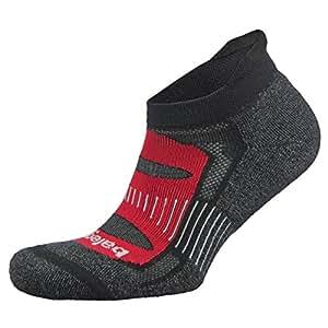Balega Blister Resist No Show Socks For Men and Women (1-Pair), Black/Red, Small