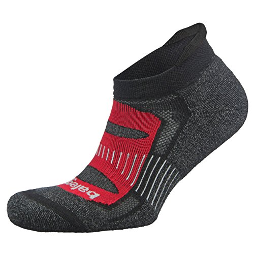 Balega Blister Resist No Show Socks For Men and Women (1-Pair), Black/Red, X-Large