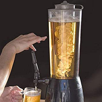 Compra Smartlife - Dispensador de cerveza y zumo (2, 5 litros), con compartimento para hielo, ideal para fiestas, bares o casas en Amazon.es