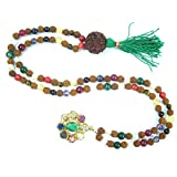 Rudraksha yoga Prayer Mala Navgraha Meditation Japamala Healing Jewelry-Remove