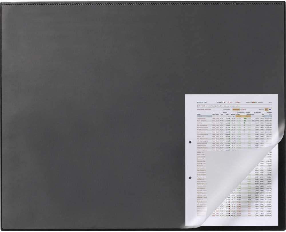Mit Kantenschutz, 650 X 500 Mm Durable 729301 Schreibunterlage Schwarz