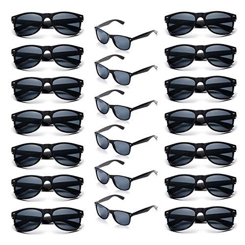 Onnea Wholesale Multi Pack Unisex 80'S Retro Vintage Style Promotional Sunglasses for Party Supplies ()