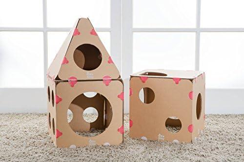 BOXKITTY - Castillo Modular para Gatos, diseño de Cono, cartón ...