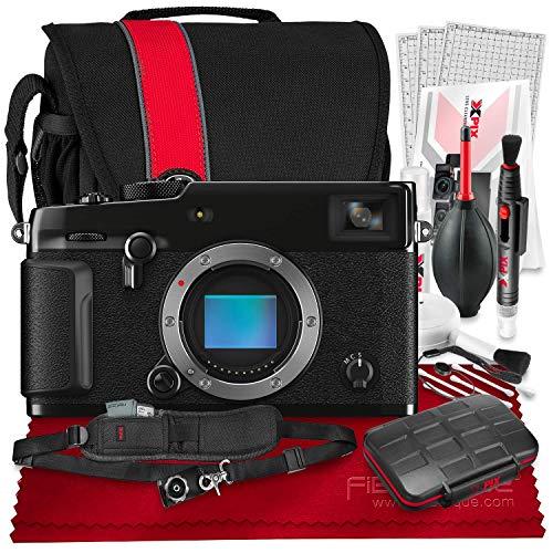 FUJIFILM X-Pro3 Mirrorless Digital Camera (Black) + Camera Bag, 64GB Memory Card, Xpix Memory Card Case, Xpix Camera Shoulder Strap with Quick Release & Xpix Deluxe Cleaning Accessories