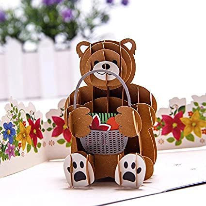 Merry Christmas Me to You Bear Full Die Cut Open Christmas Card New Gift