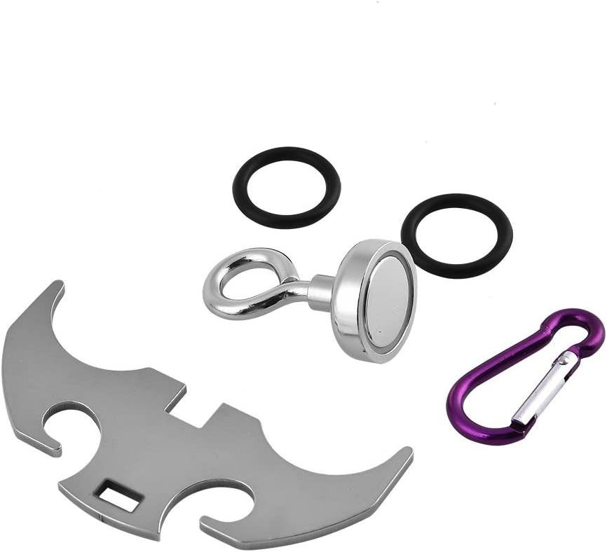 Alomejor Stainless Steel Gravity Hook for Multi-function Survival Magnetic Folding Grappling Hook Climbing Claw Outdoor Steel EDC Tool L