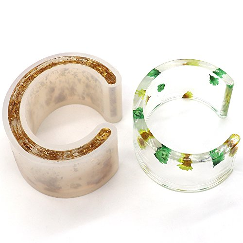 C Font DIY Silicone Molds, Open Cuff Bracelet Bangle Resin Mould, Jewelry Making
