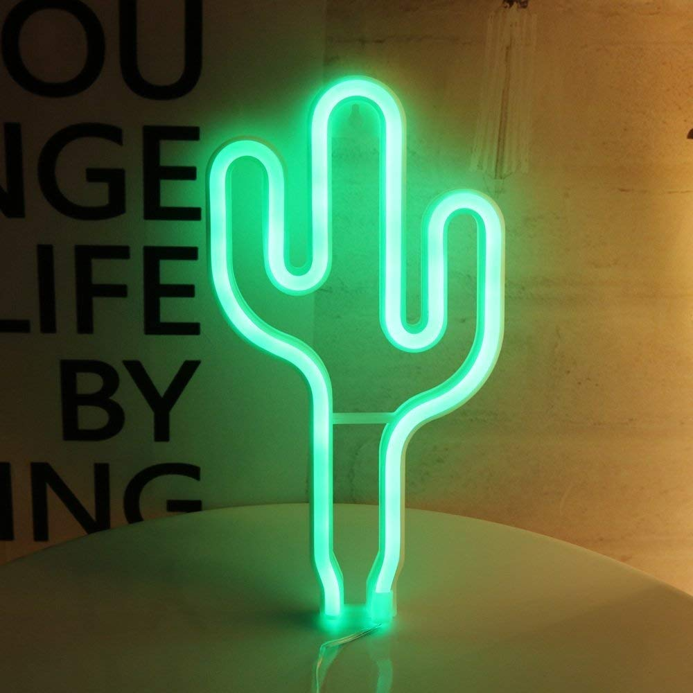 DYTOS Led Neon Cactus Sign Love Sign Art Decorative Lights Wall Decor Home Party Decoration Kids Room Living Room LED Decorative Neon Lights Pink Love Neon Sign