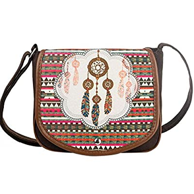 a3575f19b7 high-quality Owill National Style Canvas Postman Package Women Dream  Catcher Pattern Shoulder Bag Messenger