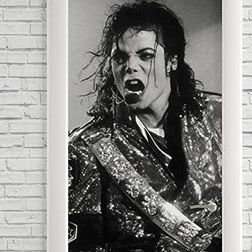 Adesivo Decorativo De Porta Michael Jackson Preto E Branco Amazon