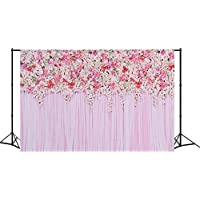 MEHOFOTO Flower Photo Backdrop Seamless Vinyl Photography Background Studio Lilac Backdrop 7×5ft