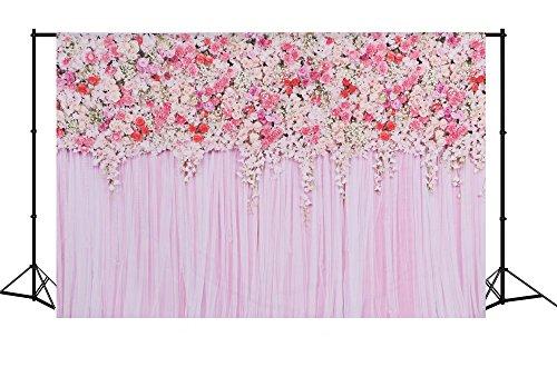 Mehofoto Flower Photo Backdrop Seamless Vinyl Photography Background Studio Lilac Backdrop 7 5Ft