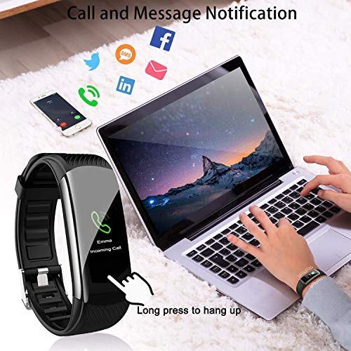 OUTAD Fitness Activity Tracker Waterproof Watch with Temperature Heart Rate Blood Pressure Oxygen Sleep Monitor, Step Calorie Counter Pedometer, Smart Bracelet Wristband for Women Men Kids