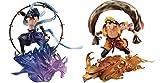 Megahouse Naruto Shippuden G.E.M. Remix Series PVC Statues Sasuke Uchiha Raijin & Naruto U