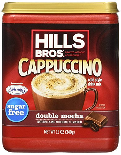 Hills Bros. Sugar-free Double Mocha Cappuccino, 12-oz. Canister (Pack of 3) ()