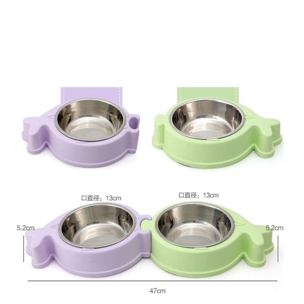 D Stainless Steel Double Bowl,Pet Feeding Supplies-D