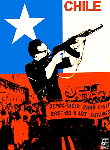 Political Decoration Poster.Activist Graphics.Solidarity with Chile.Salvador Allende.9143