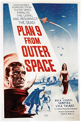 Plan 9 From Outer Space Movie Poster or Canvas