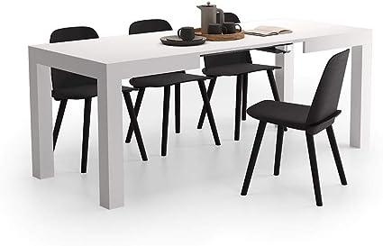 Oferta amazon: Mobili Fiver, Mesa de Cocina Extensible, Modelo First, Color Fresno Blanco, 120 x 80 x 76 cm, Made in Italy