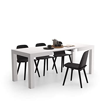 Mobili Fiver, First Table Extensible Cuisine, Frêne Blanc, 120 200 X 80