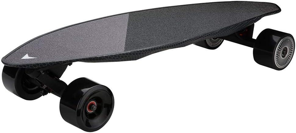 FGKING Longboard eléctrica monopatín, monopatín eléctrico Completo, Ligero Mini monopatín del Crucero, Construido para los Principiantes y los pasajeros urbanos de Ancho y Estable Skateboards