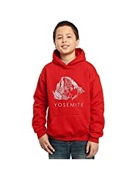 Los Angeles Pop Art Boy's Hooded Sweatshirt - Yosemite