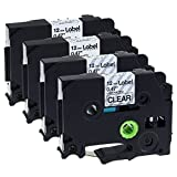 Label KINGDOM Replace TZe131 TZe231 Laminated Tape Compatible for Brother P-touch Label Maker, 1/2 Inch x 26.2 Feet, 4 Pack