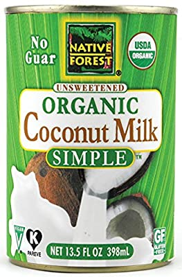 Native Forest Simple Organic Unsweetened Coconut Milk, 13.5 Fluid Ounce (Pack of 12) from Edward & Sons
