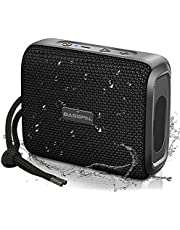 BassPal IPX7 Waterproof Bluetooth Speaker, Portable Wireless Bluetooth 5.0 Shower Speakers with 10W HD Stereo Dual Pairing, 12H Playtime, Support Mic SD Card for Pool Beach Party Travel
