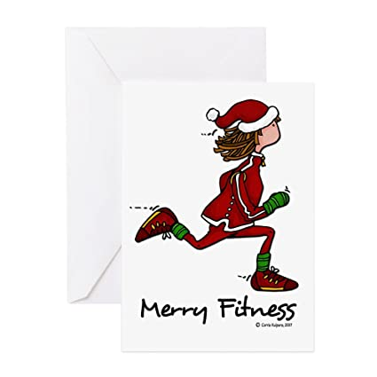 Amazon cafepress merry fitness greeting cards greeting cafepress merry fitness greeting cards greeting card note card birthday card m4hsunfo