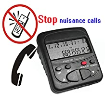 Phone Call Block ,TelPal Call Blocker Display for Landline Phone Luxury Design with 1500 Number Capacity Block Robocalls , Telemarketing Calls, Junk Faxes and All Spam Calls Perfectly Protect Your Work and Private Life (Black)