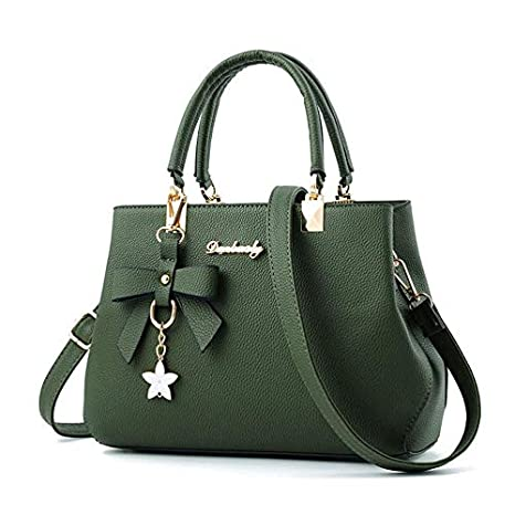 Amazon.com: Ladies Leather Five-Pointed Star Shoulder Bag ...