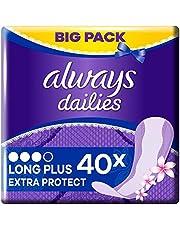 Always Dailies SlipBinden Extra Protect Long Plus Fresh (40 maanden) Big Pack, met subtiele geur, ademend, flexibel en comfortabel