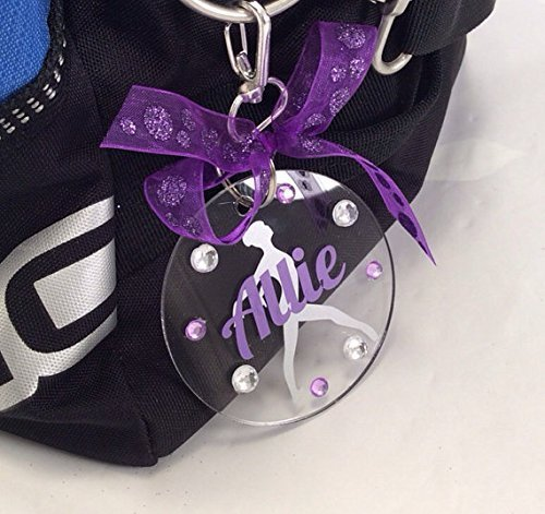 Dancer Pose Bag Tag Personalized with Your Name and Your Colors