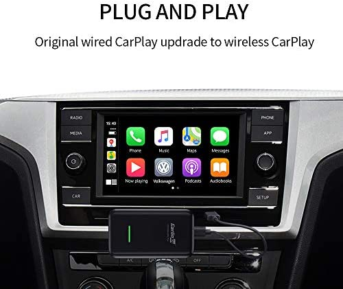 Carlinkit 2.0 Wireless CarPlay Dongle Activator U2W(Type C Design) for Factory Wired CarPlay Cars, Wireless CarPlay Adapter for Audi/Volkswagen/Volvo with Original CarPlay