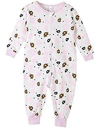 Kids Onesie Pajamas Cotton Easy Zip Open One Piece Pajamas for Children Size 3T-9T