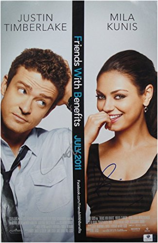 Justin Timberlake Mila Kunis Signed 11x17 Poster Friends ...