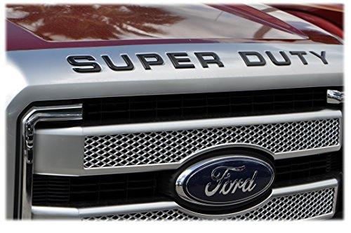TUFSKINZ | 2008-16 Ford Super Duty Front Hood Inserts (Matte Black)