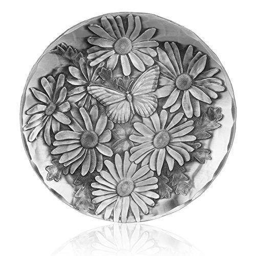 Handmade Garden Themed Coaster, Aluminum, Made by Wendell August (Butterfly Daisy)