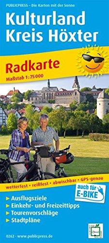 Kulturland Kreis Höxter: Radkarte mit Ausflugszielen, Einkehr- & Freizeittipps, wetterfest, reissfest, abwischbar, GPS-genau. 1:75000 (Radkarte / RK)
