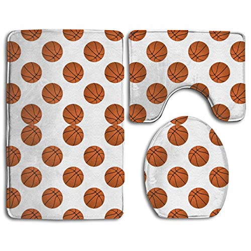 Discontinued Day Cream (colory Bathroom Rug Toilet Seat,Non-Slip Basketball Balls On White Bath Mat Bathroom Kitchen Carpet Doormats 31.5